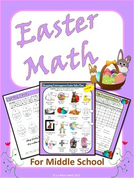 Easter Math for Middle School