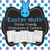 Easter Math - graphing, missing number, counting on, & ten frames