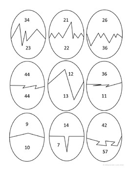 Easter Math Journal Prompts and Games (2nd grade Common Core)