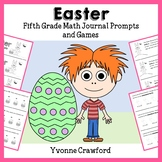 Easter Math Journal Prompts and Games (5th grade Common Core)