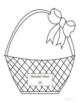 Easter Math Journal Prompts and Games (Kindergarten Common Core)