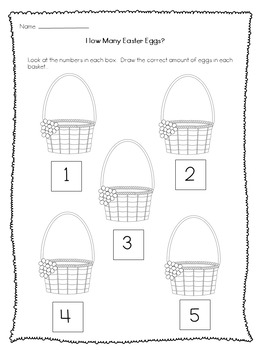 Easter Maths Worksheets For Kinders