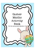 Printable Easter Maths Activity Book Black and White 30 pages Grades 1-3