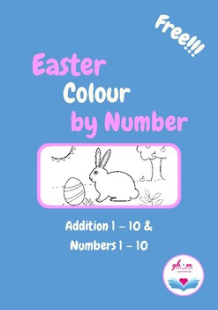 Easter Maths Activity Colour by Number (ENG UK)