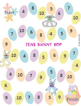 Easter Maths Game Tens Bunny Hop A game for rainbow facts