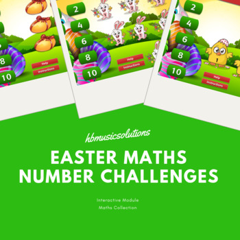 Easter Maths Number Challenge -Interactive Games