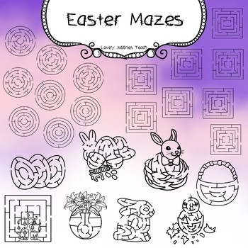 Easter Maze Clipart