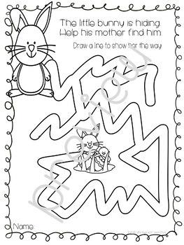 Easter Maze Worksheets (Preschool)