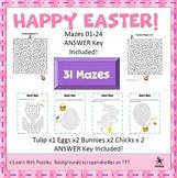 Easter Mazes - 7 Unique Easter Maze Puzzle Bundle