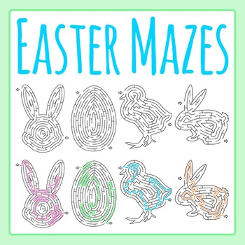 Easter Mazes Clip Art Set for Commercial Use