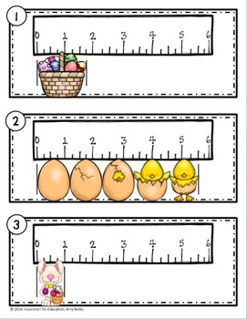 Easter Measurement and Line Plots Scoot