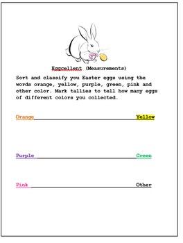 Easter  ( Measurments)