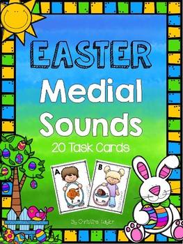 Easter Medial Sound Task Cards