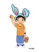 Easter Meg, Mike & Dino
