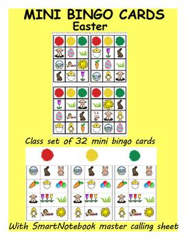 Easter Mini Bingo Cards (class set of 32)