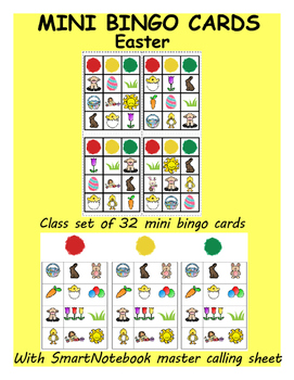 Easter Mini Bingo Cards (class set of 32)