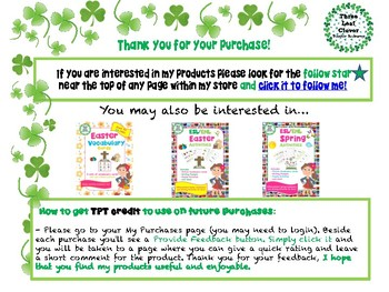 Easter Mini Books - ESL/ENL, Special Needs, Young Learners