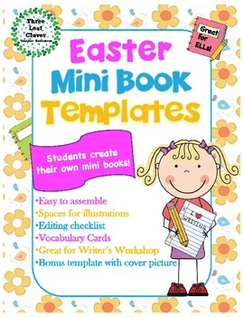 Easter Mini Books Template - with Vocabulary Cards