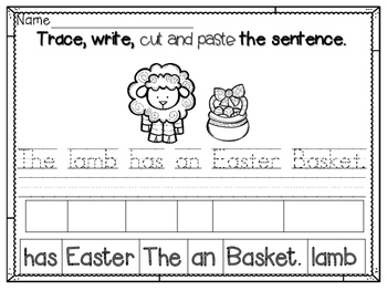 Easter Mini Fun Packet ~ NO PREP