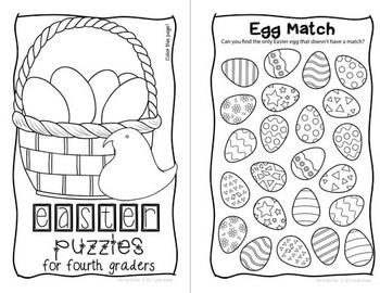 Easter Mini Puzzle Book for Fourth Graders