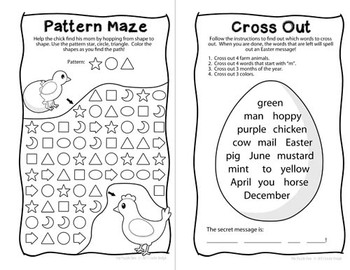 Easter Mini Puzzle Book for Kinders