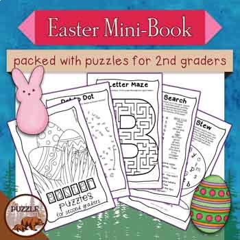 Easter Mini Puzzle Book for Second Graders