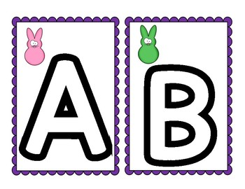 Easter Mini erasers Center for letters and numbers