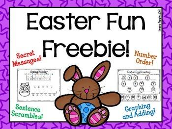 Easter Mini-pack FREEBIE!!  PreK or K
