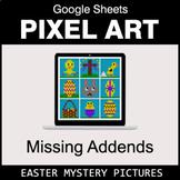 Easter: Missing Addends - Google Sheets Pixel Art