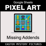 Easter: Missing Addends - Google Sheets Pixel Art