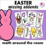 Easter Missing Addends Sums of 10 Math Center