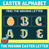 Easter Missing Alphabet Letters - Boom Cards Distance Learning