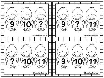 Easter Missing Number 1-20 Flashcards and Worksheets