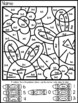 Easter Mixed Addition and Subtraction Color By Number Pictures