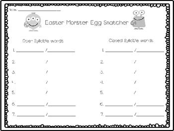 Easter Monster Egg Snatcher