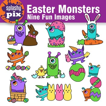 Easter Monsters Clipart