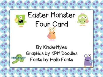 Easter Monsters Four Card Programmable