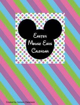 Easter Mouse Ears Calendar
