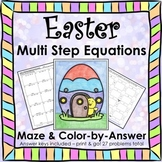 Spring Easter Math Multi-Step Equations Variables on both sides Activity Bundle