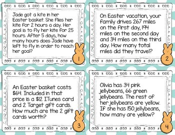Easter Multi-Step Word Problems