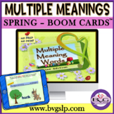Easter Multiple Meaning Words Teletherapy NO PRINT NO PREP