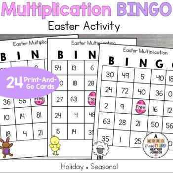 Easter Multiplication BINGO
