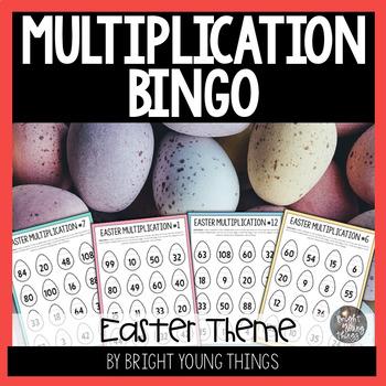 Easter Multiplication Bingo - 35 Game Cards