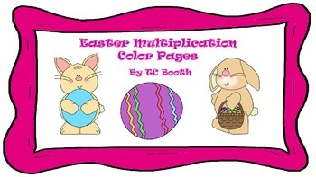 Easter Multiplication Color Pages