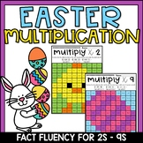 Easter Multiplication Color by Number Worksheets Facts 2s-9s