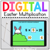 Easter Multiplication Digital Activity   Distance Learning