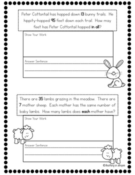Easter Multiplication & Division Story/Word Problems