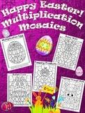 Easter Multiplication Mosaics Bundle Pack! Fun Fact Practice