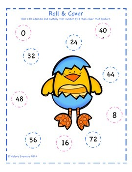 Easter Multiplication Roll and Cover