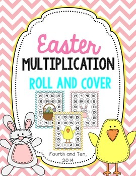 Easter Multiplication Roll and Cover {Factors 1-12}